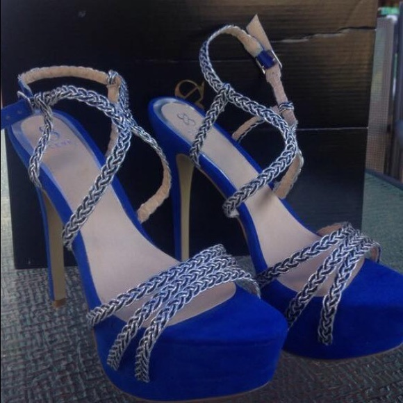 75% off Scene Shoes - Scene royal blue and silver heels from ...